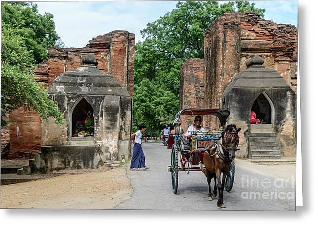 Old Bagan Greeting Card