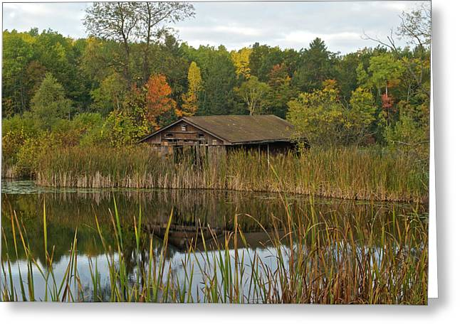 Old Bait Shop On Twin Lake_9626 Greeting Card by Michael Peychich