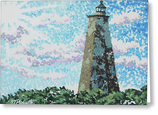 Old Baldy Lighthouse Greeting Card