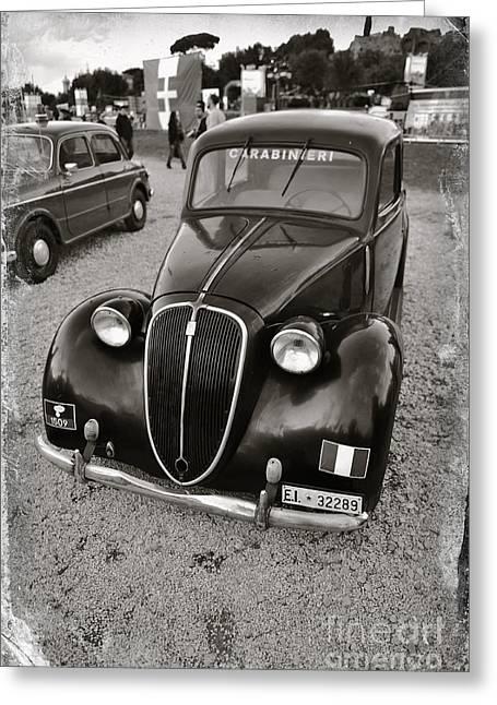 Old Balilla Carabinieri Greeting Card by Stefano Senise
