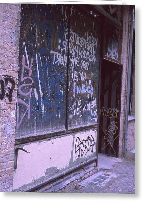 Old Bar, Old Graffitis Greeting Card