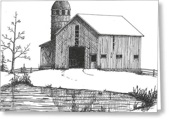 Old Barn 1 Greeting Card by BJ Shine
