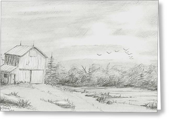 Old Barn 2 Greeting Card by BJ Shine