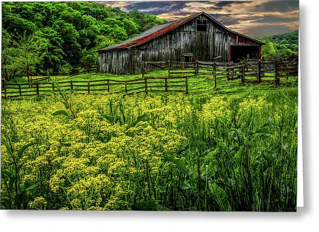 Old Barn 2 Greeting Card by Elijah Knight