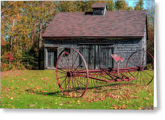 Old Barn And Rusty Farm Implement 02 Greeting Card by Ken Morris