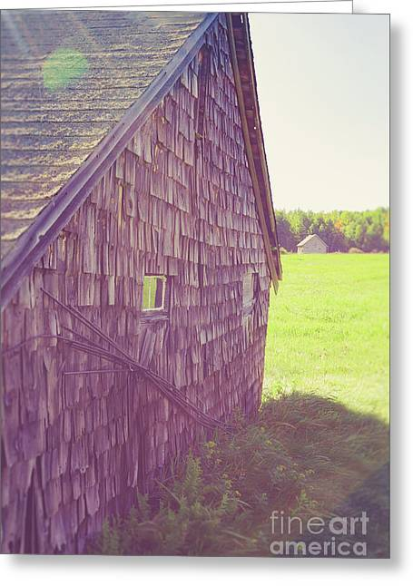 Old Barn Andover New Hampshire Sun Flare Greeting Card