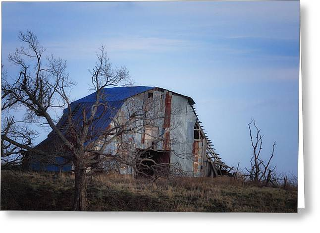Old Barn At Hilltop Arkansas Greeting Card