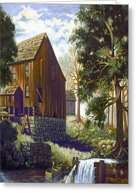 Old Barn At Riverbend Greeting Card by Donn Kay