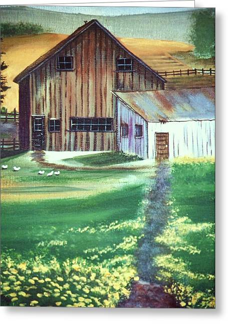 Old Barn Greeting Card by Eileen Blair