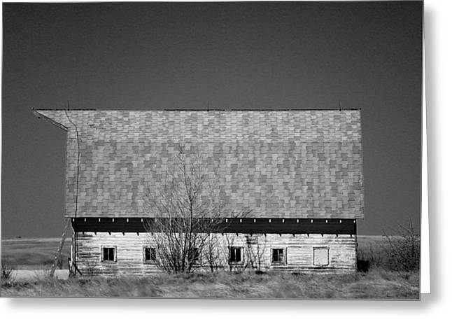 Old Barn In Heritage Montana Baw Greeting Card by Jeff Swan
