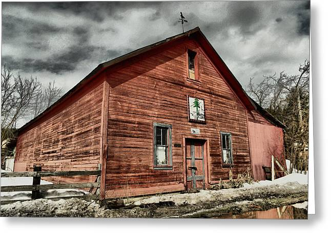 Greeting Card featuring the photograph Old Barn In Roslyn Wa by Jeff Swan