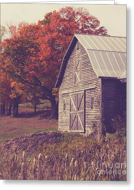 Old Barn In Vermont Greeting Card by Edward Fielding