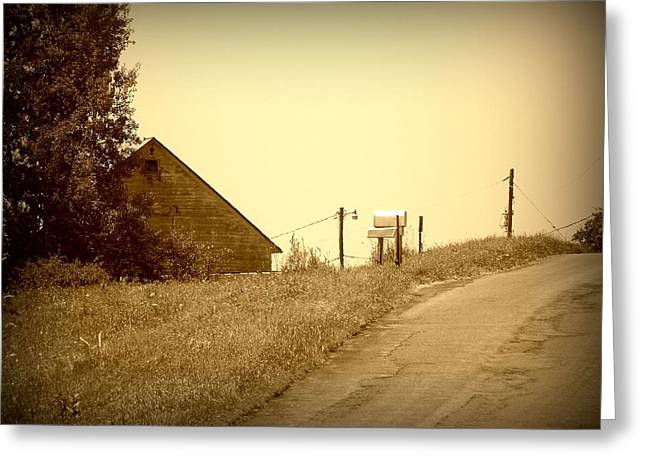 Old Barn  Greeting Card by Keith  Senecal