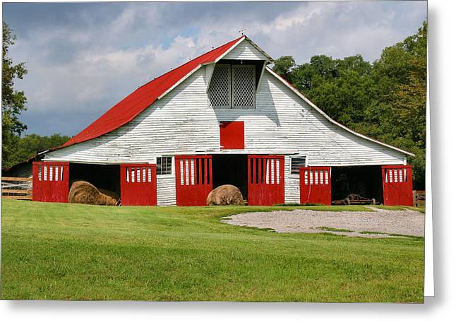Old Barn Greeting Card by Kristin Elmquist