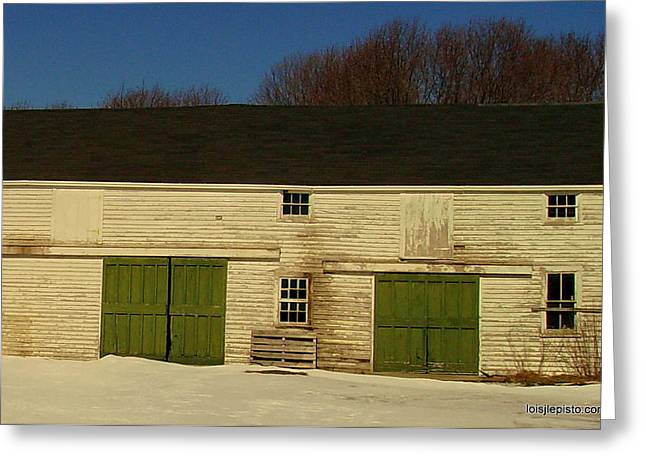 Old Barn Greeting Card by Lois Lepisto