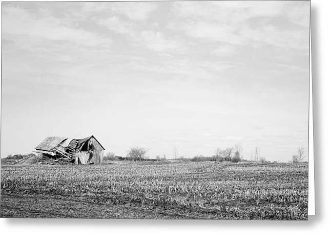 Old Barn Greeting Card by Martin Rochefort