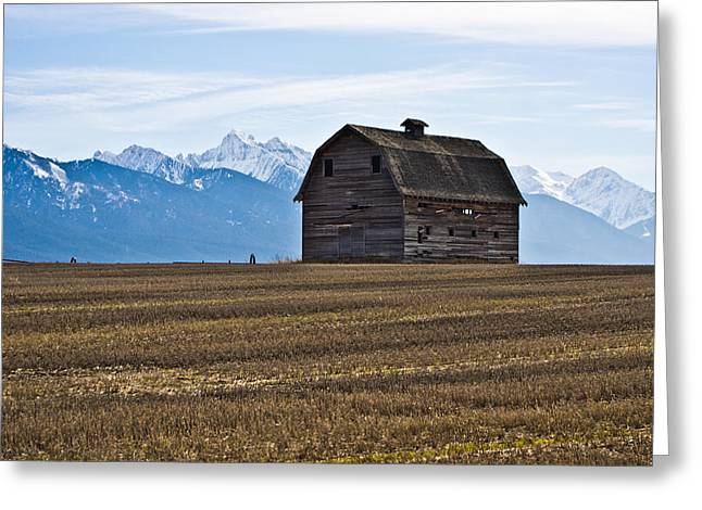 Old Barn, Mission Mountains 2 Greeting Card