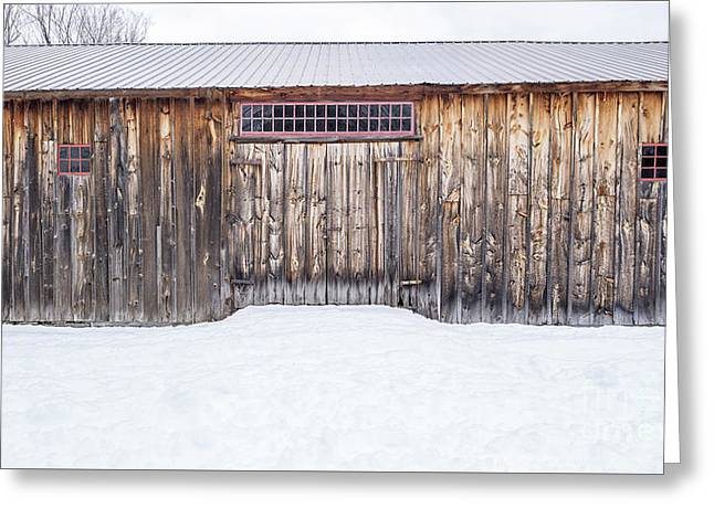 Greeting Card featuring the photograph Old Barn Musterfield Farm by Edward Fielding
