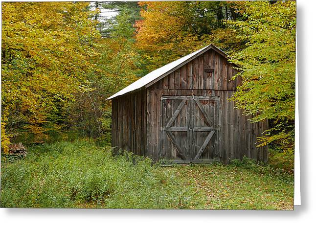 Old Barn New England Greeting Card