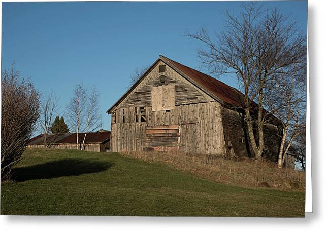 Old Barn On A Hill Greeting Card