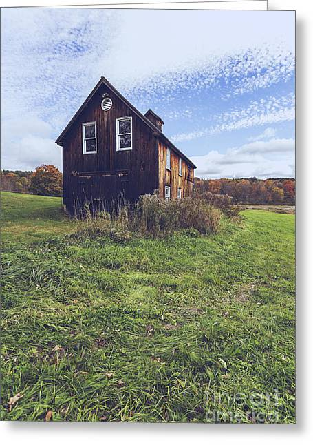 Old Barn Out In A Field Greeting Card by Edward Fielding