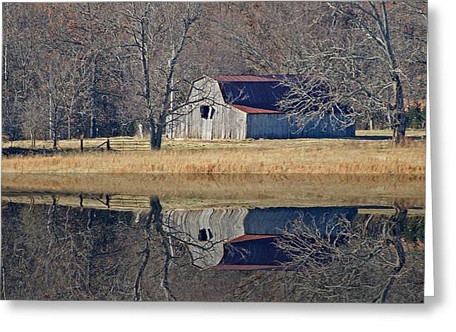 Greeting Card featuring the photograph Old Barn by Rick Friedle