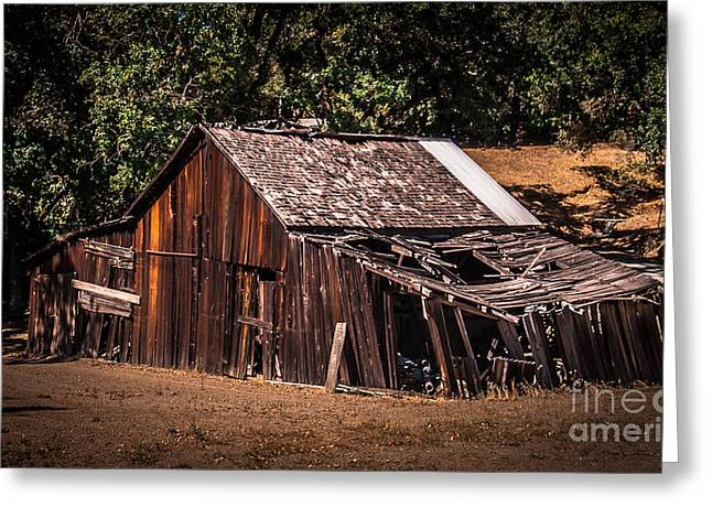 Old Barn River Road Sonoma County Greeting Card