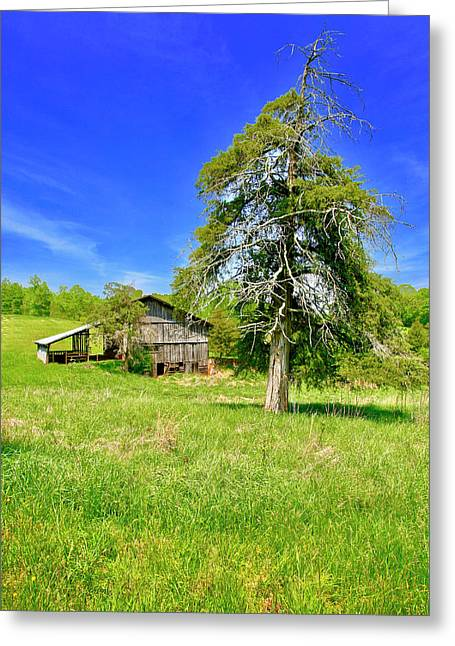 Old Barn, Smith Mountain Lake Greeting Card