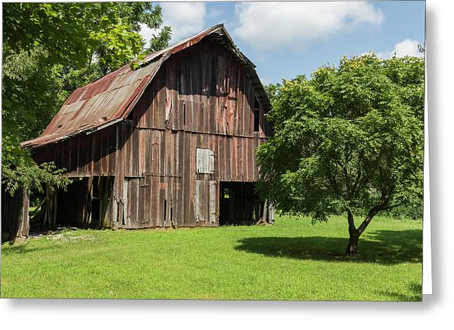 Old Barn Greeting Card by William Morris