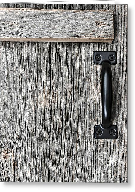 Old Barn Wood Door Greeting Card by Elena Elisseeva