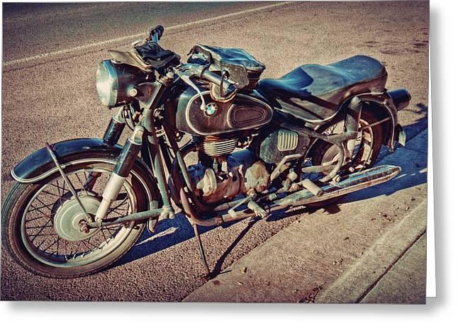 Old Beamer Motorcycle Greeting Card