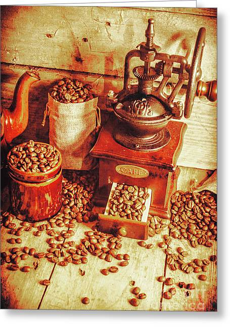 Old Bean Mill Decor. Kitchen Art Greeting Card
