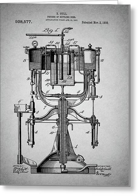 Old Beer Bottling Patent Greeting Card