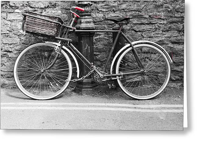 Old Bicycle Greeting Card by Helen Northcott