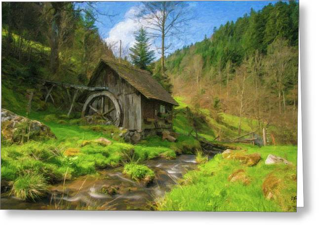 Old Black Forest Mill Greeting Card by Dean Wittle