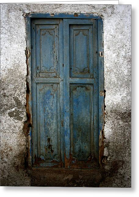 Old House Photographs Greeting Cards - Old Blue Door Greeting Card by Shane Rees