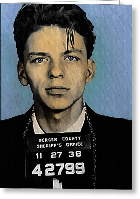 Frank Sinatra Greeting Cards - Old Blue Eyes - Frank Sinatra Greeting Card by Bill Cannon