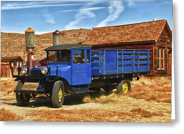 Old Blue 1927 Dodge Truck Bodie State Park Greeting Card by James Hammond