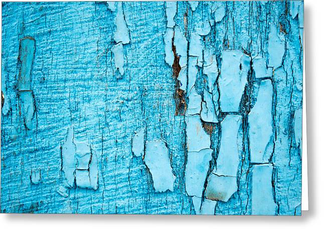 Old Blue Wood Greeting Card by John Williams