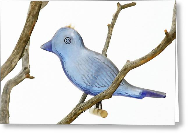Old Bluebird Ornament Greeting Card