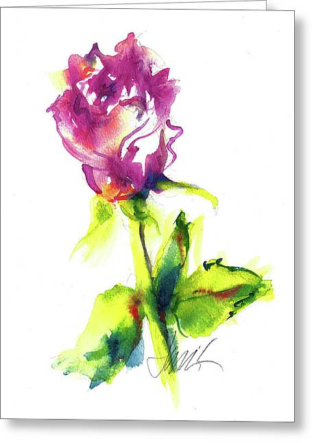 Old Blush - Rose Greeting Card