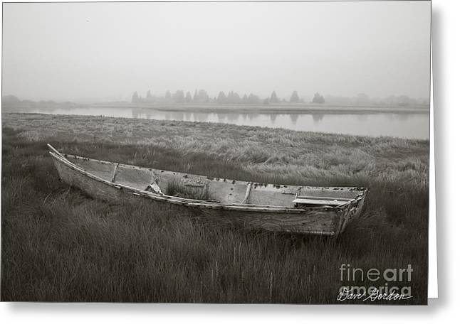 Old Boat In Tidal Marsh Greeting Card by David Gordon
