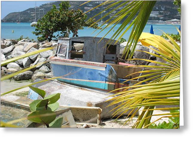 Greeting Card featuring the photograph Old Boat by Michael Albright