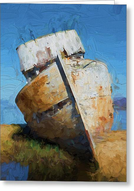 Old Boat Tomales Bay I - Painterly Greeting Card