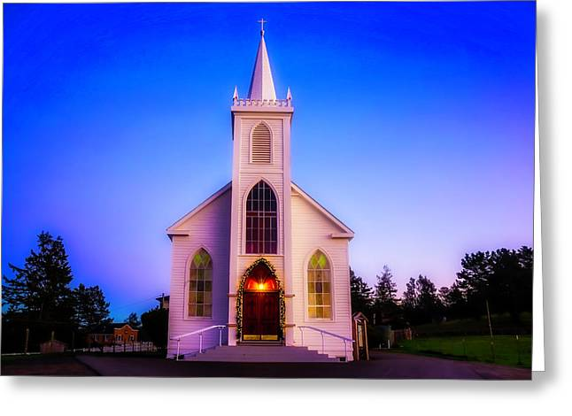 Old Bodega Church Sunset Greeting Card