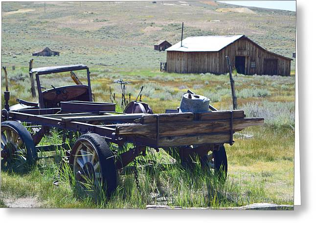 Old Bodie Wagon Greeting Card