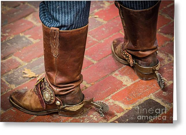 Old Boots Greeting Card by Inge Johnsson