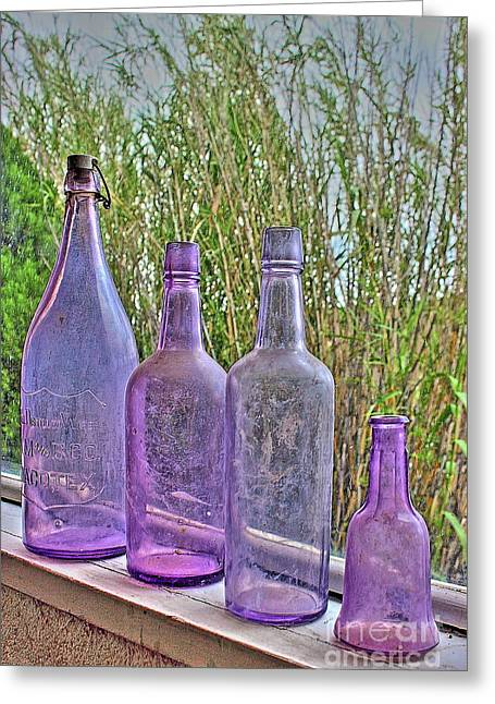Old Bottle Collection Greeting Card