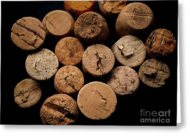Old Bottle Cork, View From Above Greeting Card
