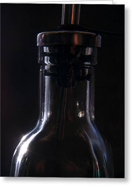 Old Bottle Greeting Card by Steve Somerville